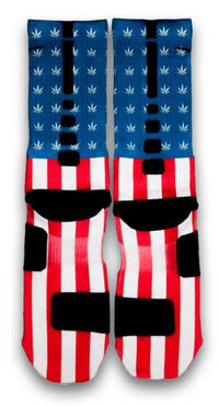 Weed Country Custom Elite Socks - CustomizeEliteSocks.com - 3