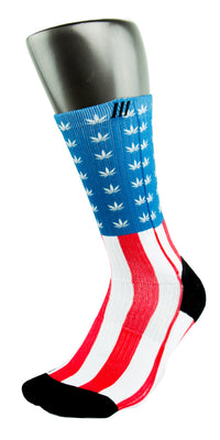 Weed Country CES Custom Socks - CustomizeEliteSocks.com - 3