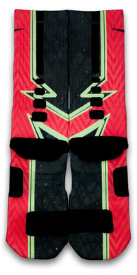 Crimson Laser Red Custom Elite Socks - CustomizeEliteSocks.com - 3
