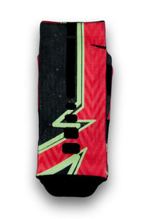 Crimson Laser Red Custom Elite Socks - CustomizeEliteSocks.com - 2