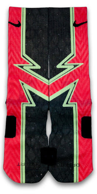 Crimson Laser Red Custom Elite Socks - CustomizeEliteSocks.com - 1