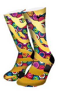 Zebra Hexapod Custom Elite Socks - CustomizeEliteSocks.com - 4