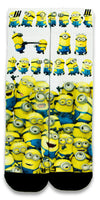 Minions CES Custom Socks - CustomizeEliteSocks.com - 1