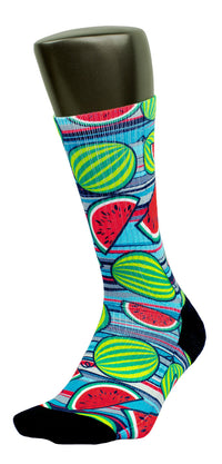 Chilled Watermelons CES Custom Socks