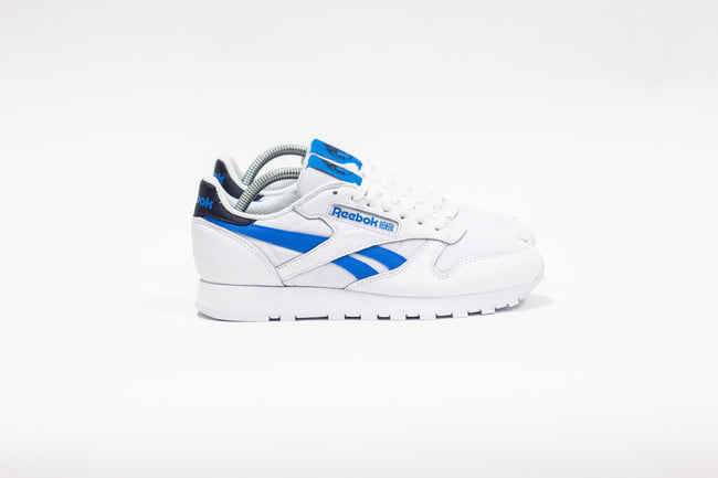 "Reebok CL Leather ""Reecycled"" (White/Horizon Blue/Vector Navy)"