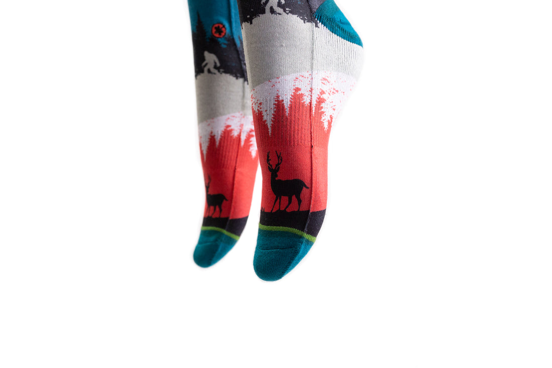 Arkansocks Nightfall Socks (Geode Teal/Crimson)