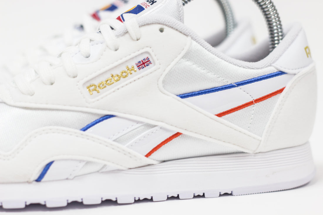 WMNS Reebok CL Nylon (White/Radiant Red/Blue Blast)