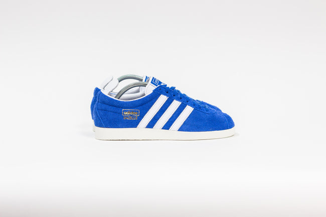Adidas Gazelle Vintage (Blue/Cloud White/Gold Metallic)