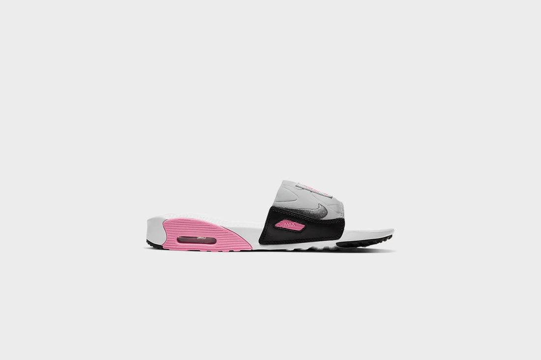 Nike Air Max 90 Slide (White/Smoke Grey-Rose)