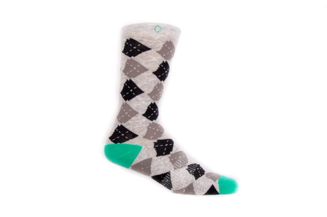 Arkansocks Argyle State of Mind (Heather/Teal)