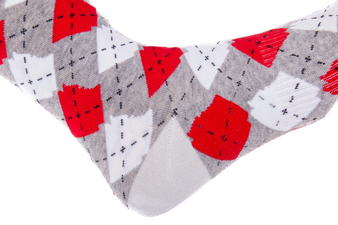 Arkansocks Argyle State of Mind (Charcoal Heather/Team Red)
