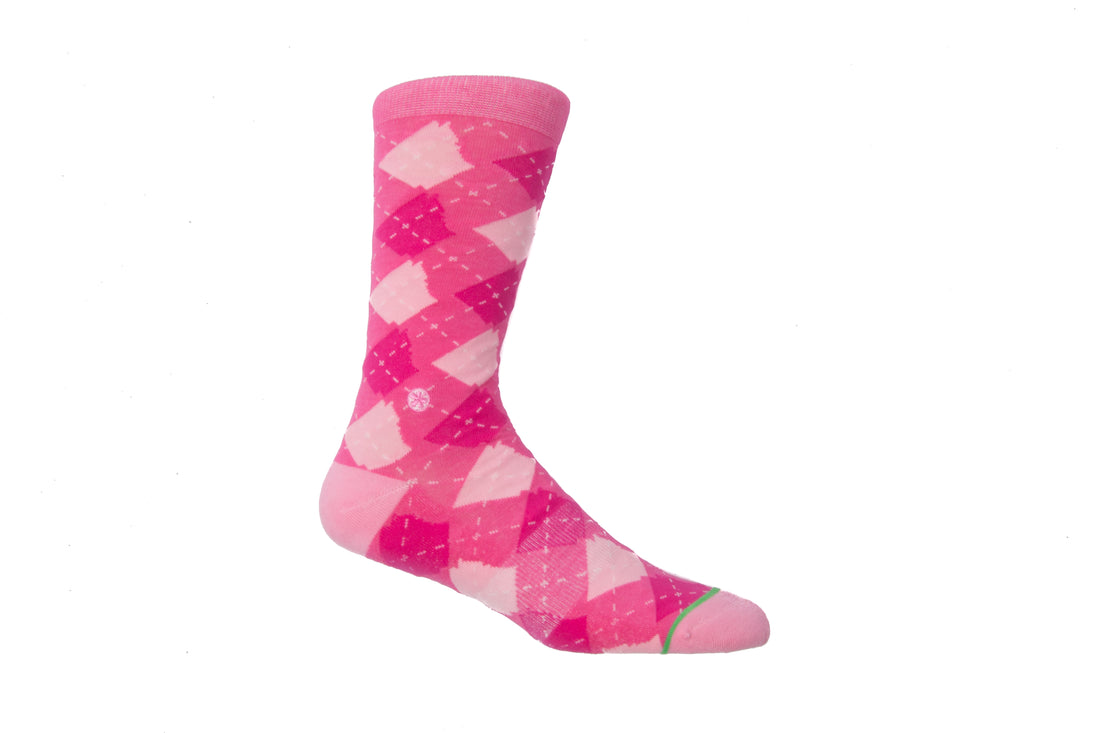 Arkansocks Argyle State of Mind (Pink/Blush-Lava)