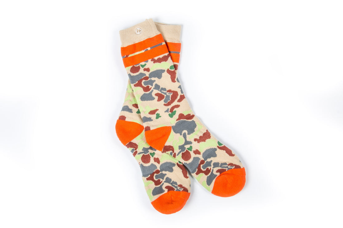 Arkansocks Duck Camp (Tan/Orange)