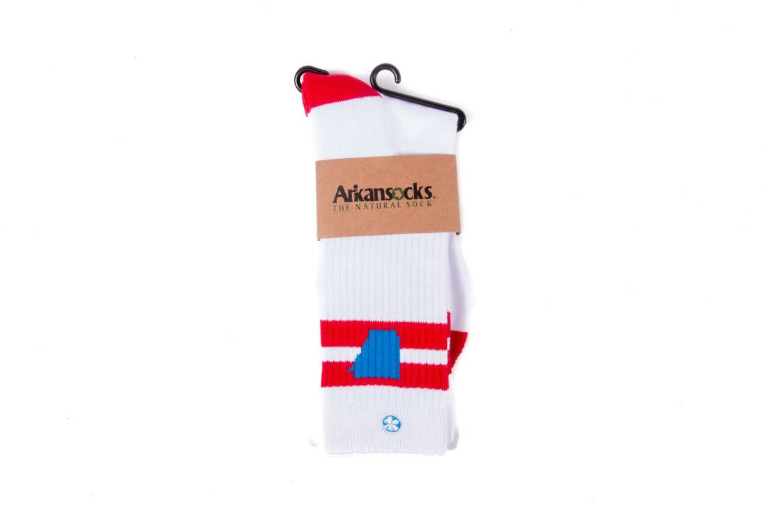 Arkansocks The Tailgater (Varsity Red/Cyan)