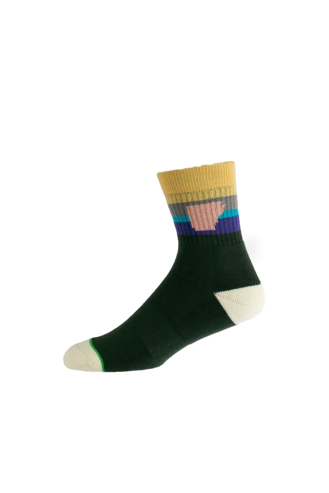 Arkansocks Tailgater Mid (Gorge Green/Lemon-Light Blue)