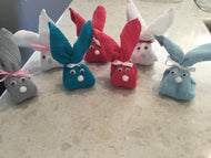 Easter bunny face washers