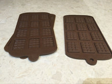 Load image into Gallery viewer, Silicone mini chocolate bar mould - melts or soap