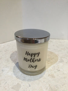 Mother's Day candles with quote.
