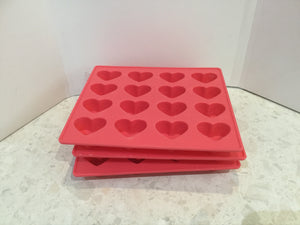 Silicone hearts mould - 2 styles