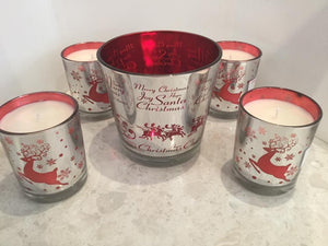 Christmas candles - reindeers style - X large and medium