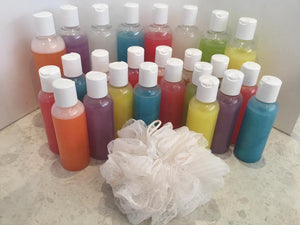 Body wash - scented and coloured or natural