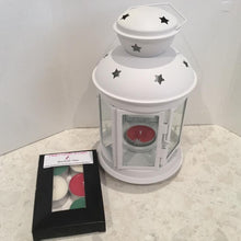Load image into Gallery viewer, Christmas lantern  Tealight burner with 6 pack of scented tealights
