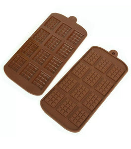 Silicone mini chocolate bar mould - melts or soap