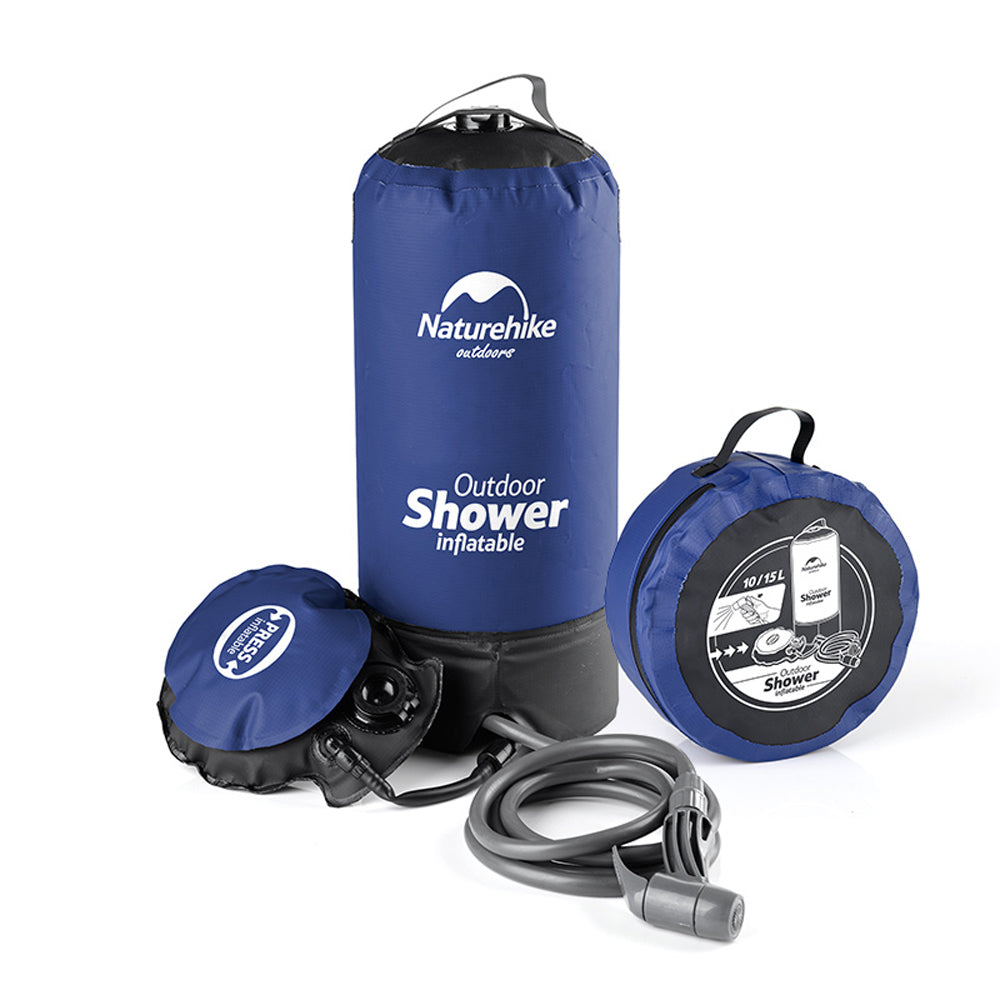 11L PVC Outdoor Inflatable Shower Blue