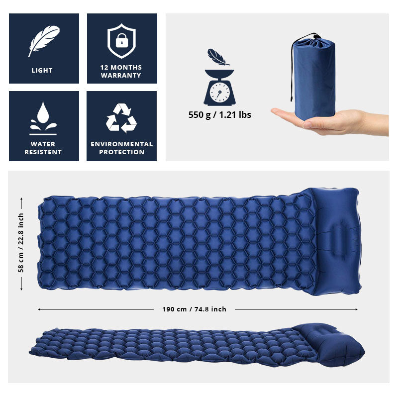 AlphaPad™ Inflatable Sleeping Pad