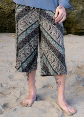 Batik Shorts - Grey Tribal