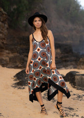 Ubud Dress - Fractal Dot
