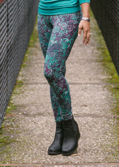 Victoria Leggings - Teal/Maroon