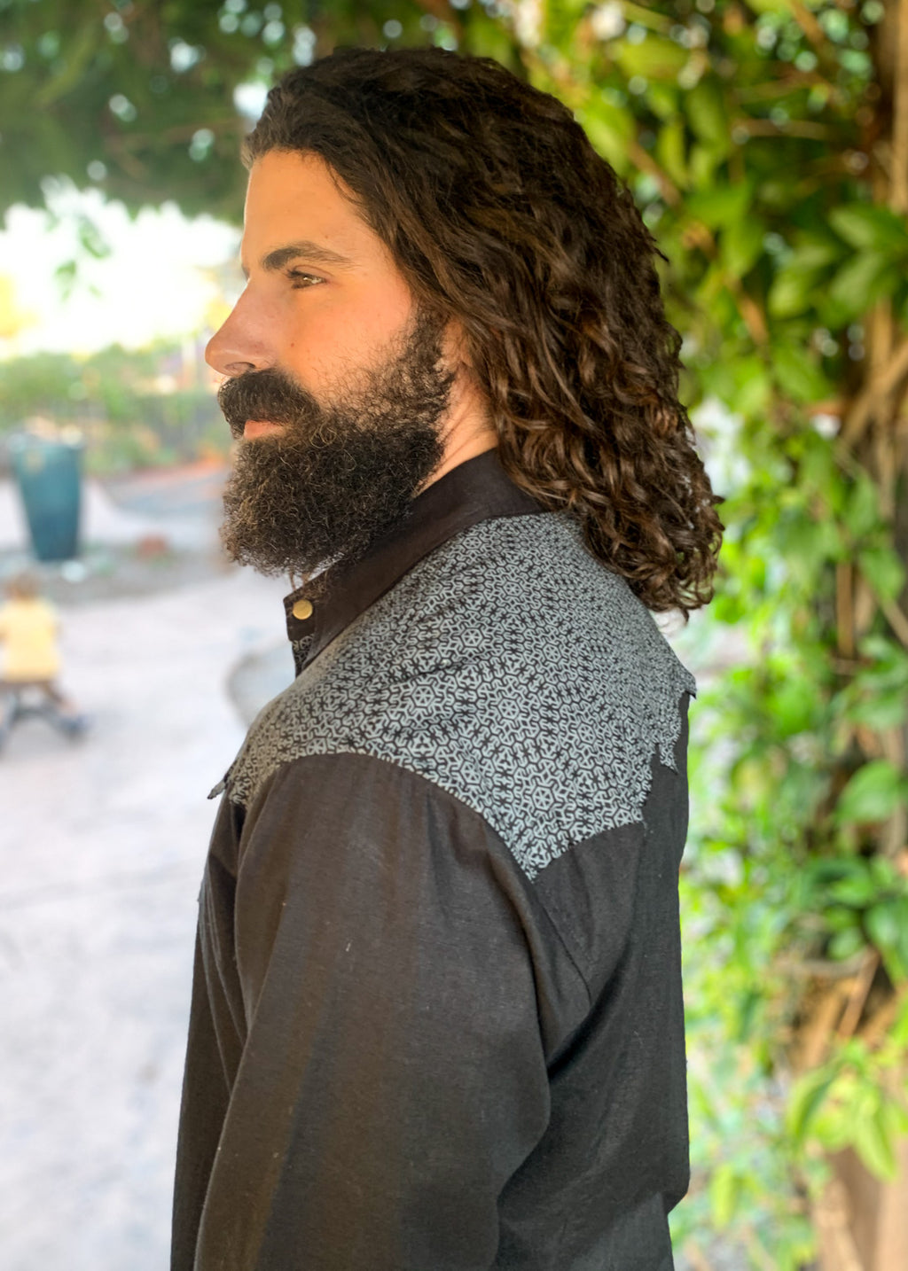 Cowboy Shirt - Black/Grey Hexa