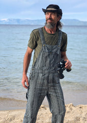 Men's OverAlls - Black/White Ekat