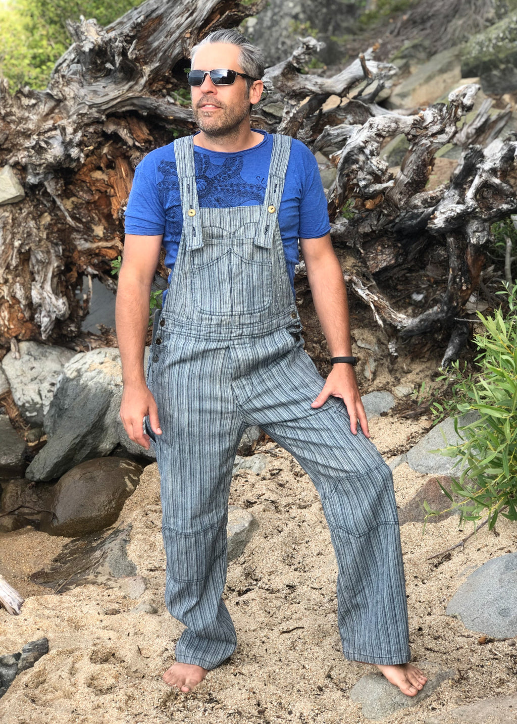 Men's OverAlls - Denim Stripe