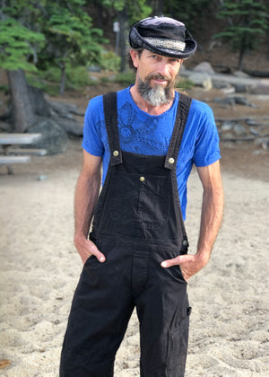 Men's OverAlls - Black Stretch Canvas