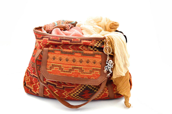 Bohemian River Stone Vegan Bag
