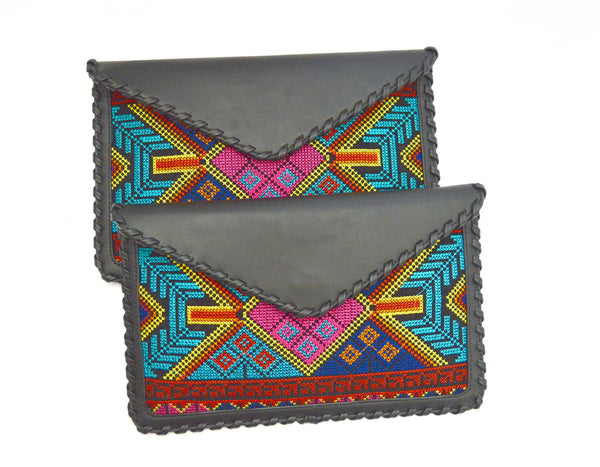 Bohemian Black River Vegan Clutch