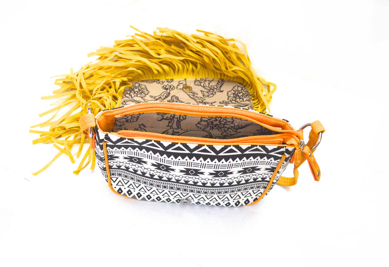 Sunray Dakota Bohemian Fringe Vegan Purse