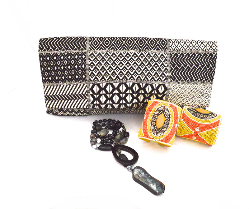 Bohemian Sonnet Cloth Vegan Clutch Purse