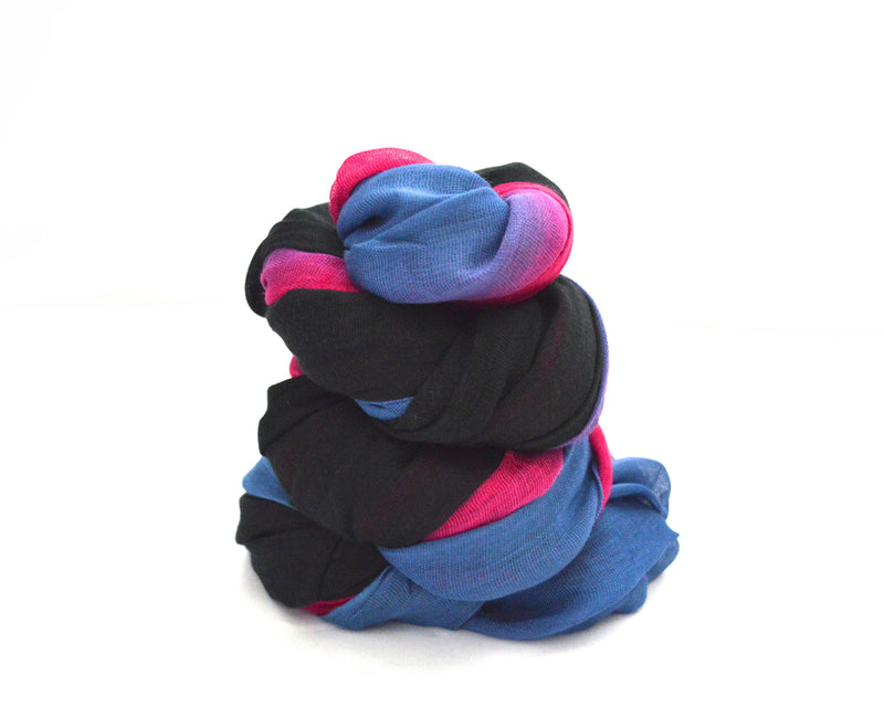 Black and Fuchsia Infinity Vegan Scarf
