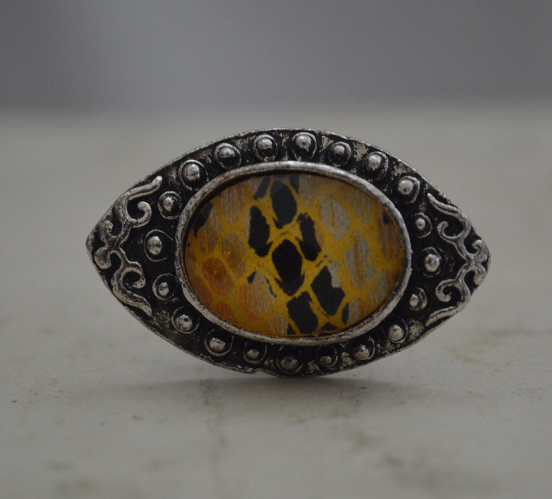 Yellow Zebra Ring