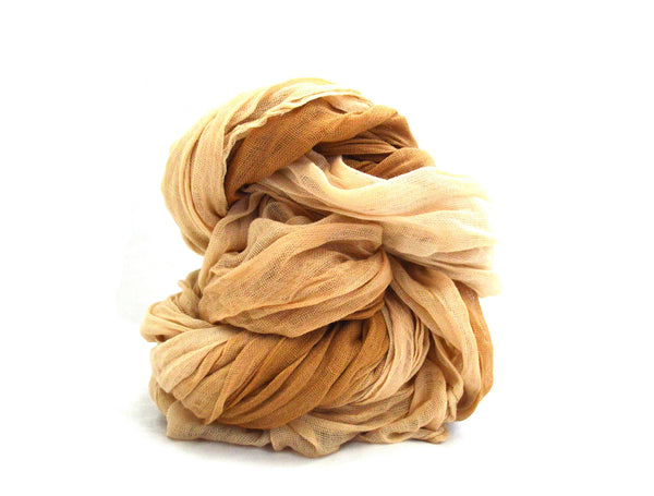 Cream and Tan Vegan Scarf