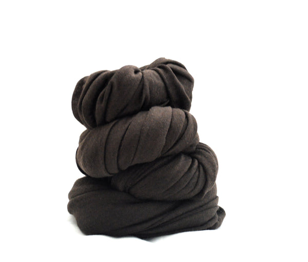 Infinity Chocolate Brown  Vegan Scarf