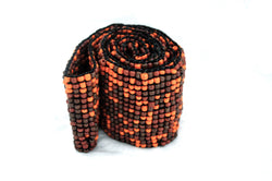 Auburn Fire Beaded Bohemian Vegan Belt