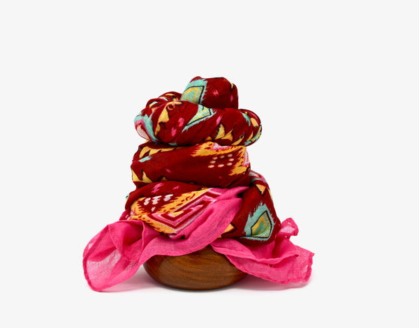 Red Sun Vegan Scarf