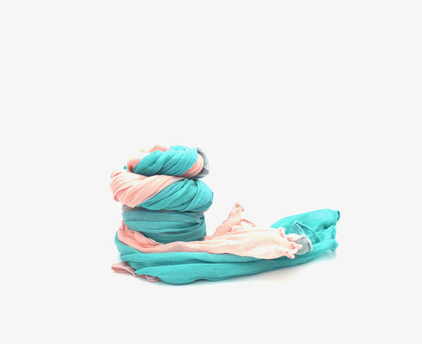 Fairy Pink and Aqua Vegan Scarf