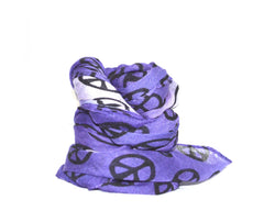 Purple PEACE Vegan Scarf