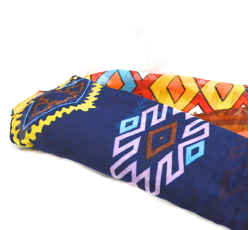Lion Tribal Print Scarf