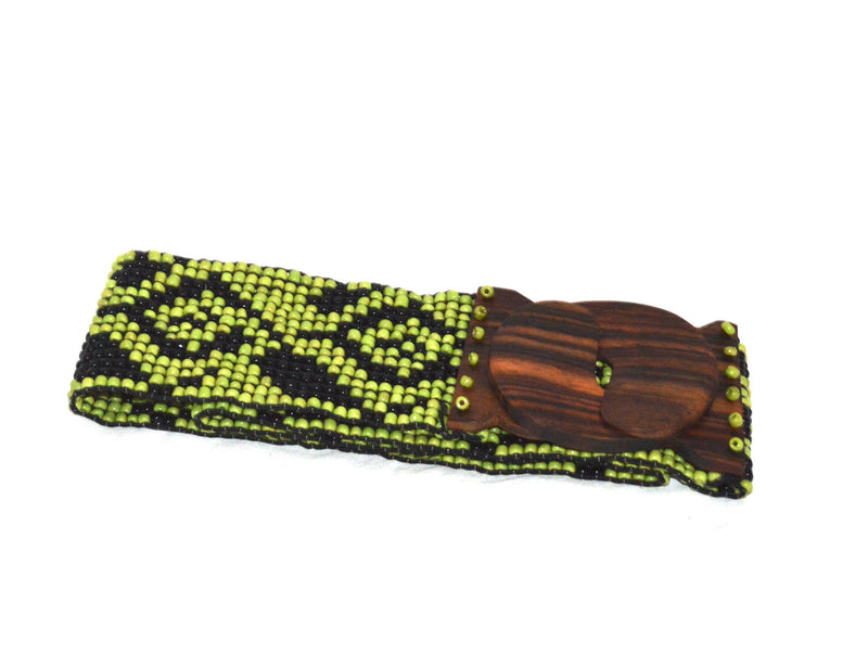 Tribal Bohemian Wood Beaded Belt